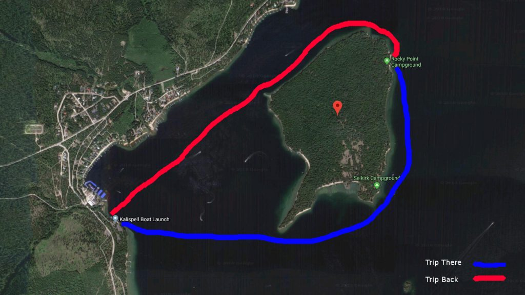 how to get to kalispell island