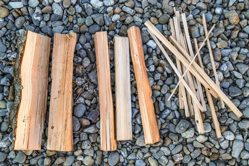 kindling and wood for campfire without lighter fluid